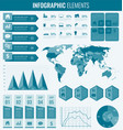 collection of infographic elements template for vector image vector image
