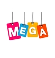 colorful hanging cardboard Tags - mega vector image