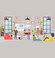 coworking space area cartoon vector image