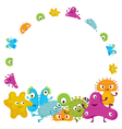 Cute Germ Characters Frame and Border vector image vector image