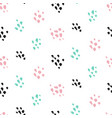 cute paint grunge seamless pattern vector image