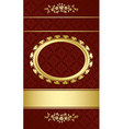 dark brown elegant card with gold decorations vector image vector image
