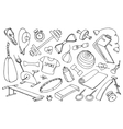 Doodle set of sport vector image vector image