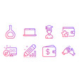 edit statistics student and dollar wallet icons