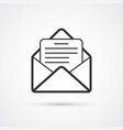 email flat line black icon eps10 vector image vector image