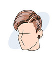 fashion haircut vector image vector image