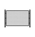 fence wire metal chain link mesh steel net vector image