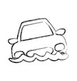 figure flooded car for danger weather vector image vector image