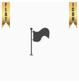 Flag icon Location marker symbol Flat design style vector image