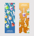 flasks set banners vector image vector image