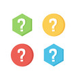 flat design icons with question marks vector image