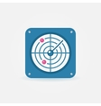 Flat radar icon vector image