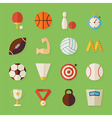Flat Sport Recreation and Competition Objects Set vector image vector image