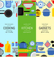 flat style kitchen utensils vertical web vector image