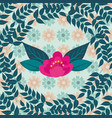 flower leaves branches foliage background vector image