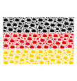 germany flag pattern of boom explosion items vector image