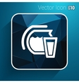 Glass pitcher logo icon compote juice vector image