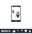 GPS phone icon flat vector image vector image