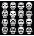 Halloween Mexican sugar skull Dia de los Muertos vector image vector image