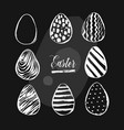 hand drawn abstract creative easter brush vector image vector image