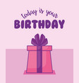 happy birthday celebration card with gift presents vector image vector image