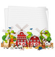 happy kids at farm banner vector image vector image