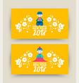 happy korean new year 2018 cute kid banner set vector image vector image