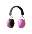 headphones are an individual device for personal vector image
