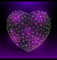 heart to happy valentines day consisting of vector image vector image