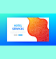 hotel services landing page vector image vector image