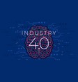 industry 40 concept fourth industrial revolution vector image vector image