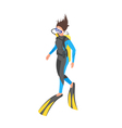 Isometric 3d of diver woman vector image vector image