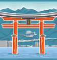 japan torii vector image vector image