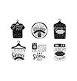 laundry service wash and fold labels set dry vector image vector image