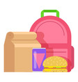 lunch box kid icon flat style vector image vector image
