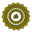 mandala india ornament ethnic symmetrical vector image vector image