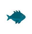 marine life gray fish cartoon sea fauna animal vector image vector image