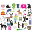 mixed icons vector image vector image
