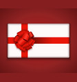 modern gift box with bow ribbon vector image vector image