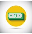 Money cash flat icon vector image