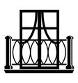 outdoor balcony icon simple style vector image vector image