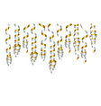 Party decorations golden and silver streamers or