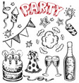 party drawings collection 1 vector image vector image