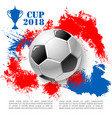Poster for soccer cup or football club vector image