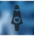pregnant icon on blurred background vector image