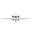 Private business jet vector image