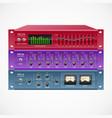 pro audio rackmount gear set vector image vector image