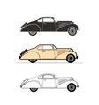 Retro car vintage collection vector image