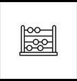 school abacus line icon education and school vector image