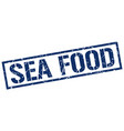 sea food stamp vector image vector image
